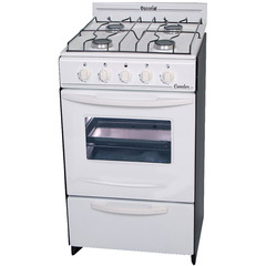 Cocina a gas Natural Escorial Candor 4 Hornallas 50 cm blanca