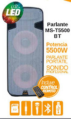 Parlante Moonki  MS-T5500BT 5500W con conectividad Bluetooth
