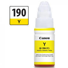 Cartucho De Tinta Canon GI-190 Amarillo - Botella 70Ml