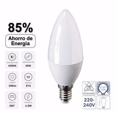 Lampara VERBATIM LED Vela E14 4.5Watts Luz Calida