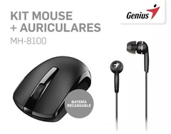 Mouse GENIUS Wireless MH-8100 + Auriculares